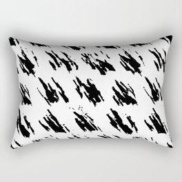 Polka Splotch Black Ink on Paper Rectangular Pillow