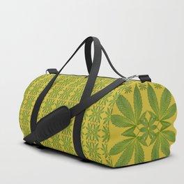 Marijuana Leaf Pattern Duffle Bag
