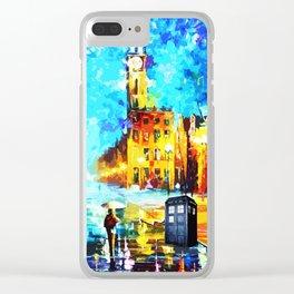 Tardis Art Starry Street Night Clear iPhone Case