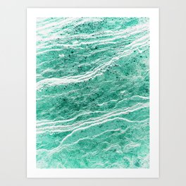 Green Salt #abstract Art Print
