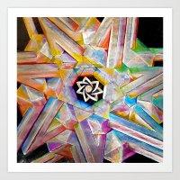 escher Art Prints featuring Escher Star by Todd Huffine