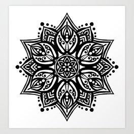 Sacred Flame Mandala Art Print