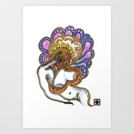 Woman in Gold - Turn of mind I Art Print