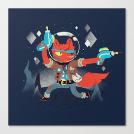 Bounty Hunter Space Cat Killa Canvas Print