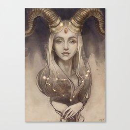 Zodiac Capricorn Canvas Print