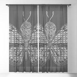 black mothman prophecy ecopop Sheer Curtain