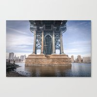 dumbo Canvas Prints featuring DUMBO by MikeMartelli