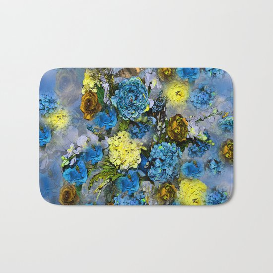 HYDRANGEA AND ROSES Bath Mat