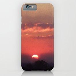 Sweet Pink Orange Sunset iPhone Case