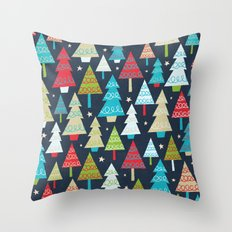 Christmas Trees Throw Pillow