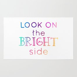 Look on the bright side - colorful lettering Rug