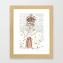 King George III Framed Art Print