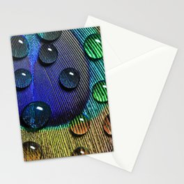 Peacock Drops Stationery Cards