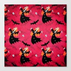 Unicorn Vampire Pattern Canvas Print