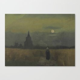Vincent van Gogh - The Old Tower at Dusk Canvas Print