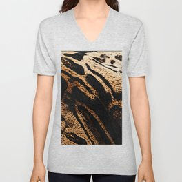 Fur pattern clouded leopard, big cat fur Unisex V-Neck