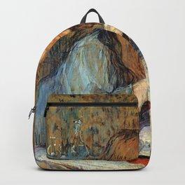 "Henri de Toulouse-Lautrec ""Madame Poupoule at Her Dressing Table"" Backpack"