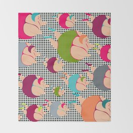 Synchronised Spotty Swimmers Throw Blanket