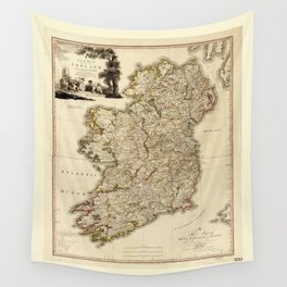 Map of Ireland by William Faden (1797) Wall Tapestry