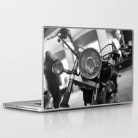 motorcycle Laptop & iPad Skins featuring Motorcycle by James Tamim