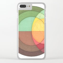 Concentric Circles Forming Equal Areas Clear iPhone Case
