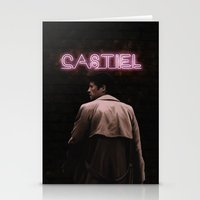 castiel Stationery Cards featuring CASTIEL by mycolour