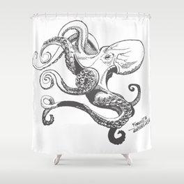 Octopus - Inktober 2016 #20 Shower Curtain