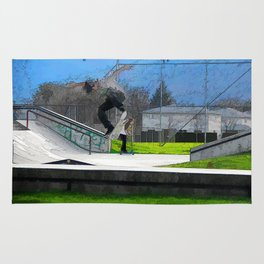 Skateboarding Fool Rug