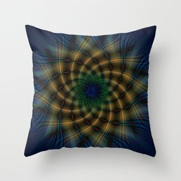 Tartan Spiral Throw Pillow