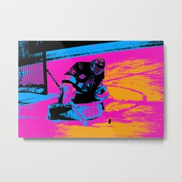 And the Puck Stops Here! - Hockey Goalie Metal Print