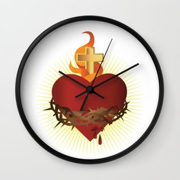 Sacred Heart of Jesus Wall Clock