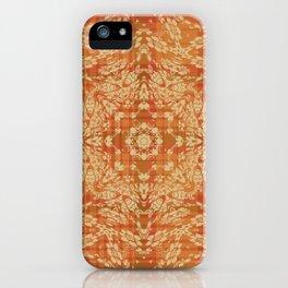 Floral Fall Mandala Plaid Autumn iPhone Case