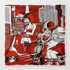 Scootin' Red Remix Canvas Print