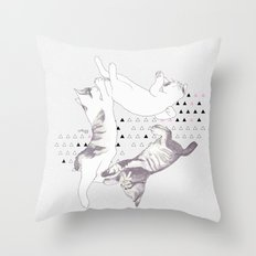 cat triangle  Throw Pillow