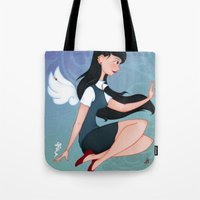 downton abbey Tote Bags featuring Abbey by Katherine Galo