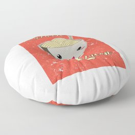 Ramen Queen Japanese Noodles Vintage Retro Style Floor Pillow