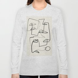 Abstract line art 12 Long Sleeve T-shirt