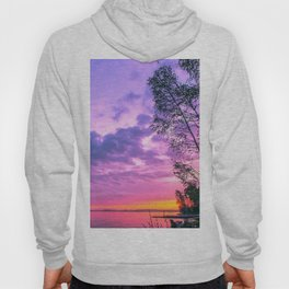 Day fading into the lake Hoody