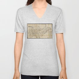 Map of Shandong Province, China (1864) Unisex V-Neck
