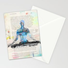 Yoga Book. Lesson 1 Concentration - painting - art print  Stationery Cards