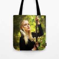 witchcraft Tote Bags featuring Witchcraft by Aleksandra Walczak