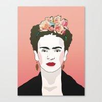 frida Canvas Prints featuring Frida by Amanda Corbett