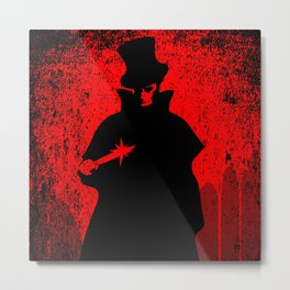 Jack the Ripper Blood Background Metal Print