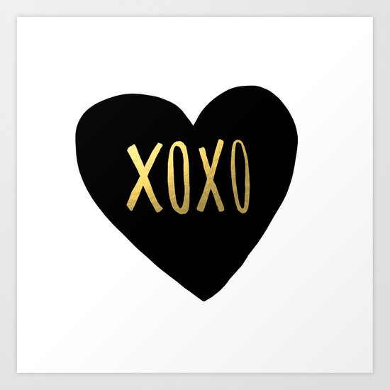 Xoxo X Gold Art Print By Leah Flores Society6