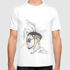 Wish A Rocking Easter! Mens Fitted Tee White MEDIUM