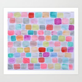Palette Squares Art Print