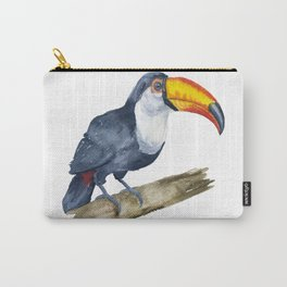 Toucan Watercolor Jungle Art Carry-All Pouch
