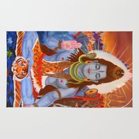 shiva Area & Throw Rugs featuring Shiva by Antonimo-discipulosinmaestro