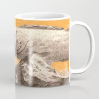 bass Mugs featuring Mountain Bass by Sam Rowe Illustration