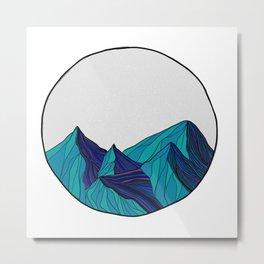 Geometric mountains Metal Print